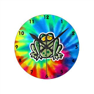 Peace, Love, Frogs Clocks