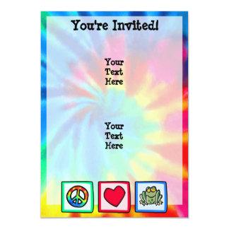Peace, Love, Frogs 5x7 Paper Invitation Card