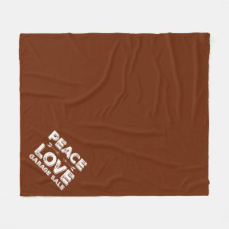 Peace Love Garage Sale Fleece Blanket