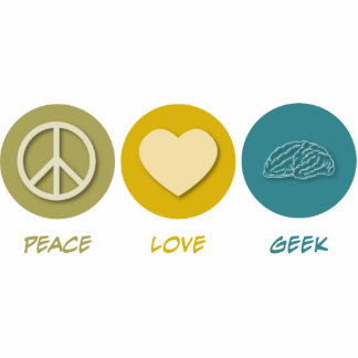 Peace Love Geek Acrylic Cut Outs