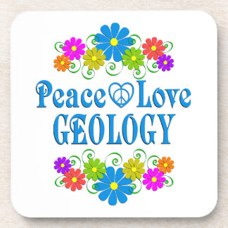 Peace Love Geology Coaster