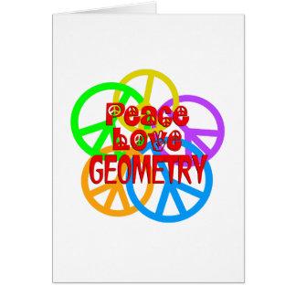 Peace Love Geometry Card