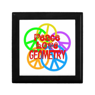 Peace Love Geometry Jewelry Box