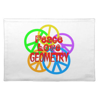 Peace Love Geometry Placemat