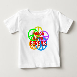 Peace Love Gerbils Baby T-Shirt