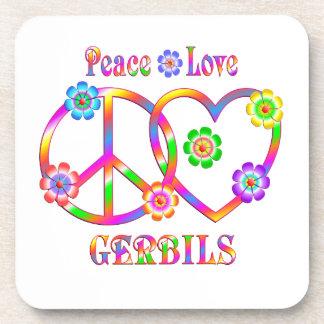 Peace Love Gerbils Coaster