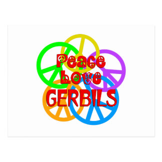 Peace Love Gerbils Postcard