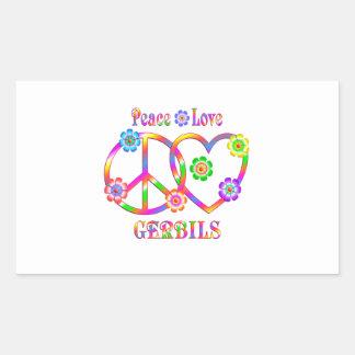 Peace Love Gerbils Sticker