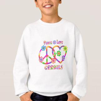 Peace Love Gerbils Sweatshirt