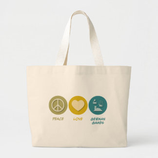 Peace Love German Board Games Large Tote Bag