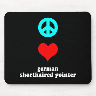 Peace love German Shorthaired Pointer Mouse Pad