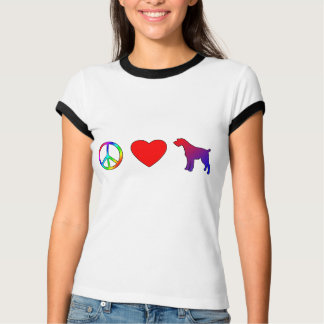 Peace Love German Wirehaired Pointers T-Shirt