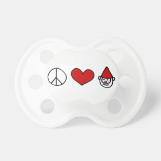 Peace Love Gnome Pacifier