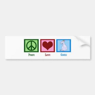 Peace Love Goats Bumper Sticker