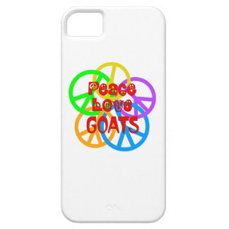 Peace Love Goats iPhone 5 Cases