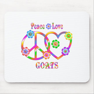 Peace Love Goats Mouse Pad