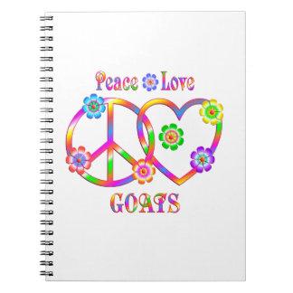 Peace Love Goats Notebook