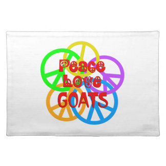 Peace Love Goats Placemat