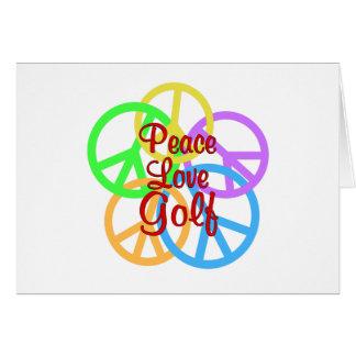 Peace Love Golf Card