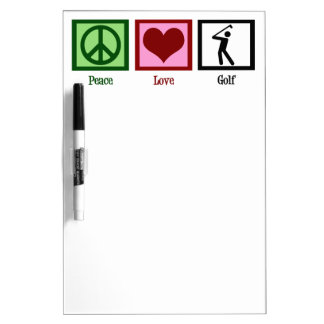 Peace Love Golf Dry Erase Board