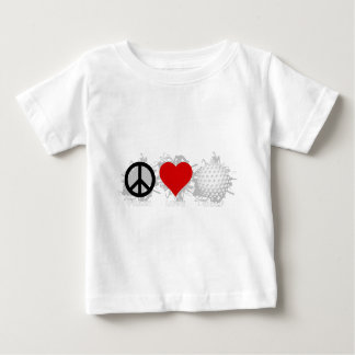 Peace Love Golf Emblem Baby T-Shirt