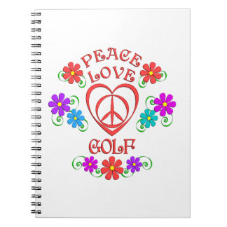 Peace Love Golf Notebooks