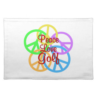 Peace Love Golf Placemat