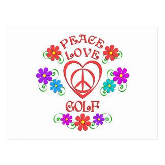 Peace Love Golf Postcard
