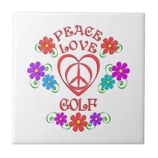 Peace Love Golf Tile