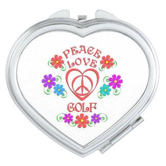 Peace Love Golf Travel Mirror