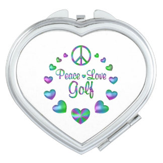 Peace Love Golf Vanity Mirrors