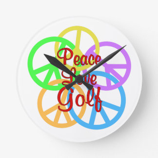 Peace Love Golf Wall Clock