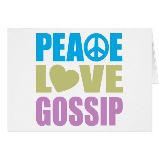 Peace Love Gossip Cards