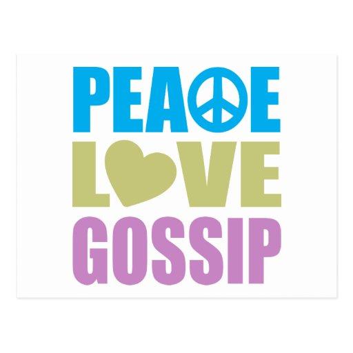 Peace Love Gossip Postcard