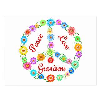 Peace Love Grandsons Postcard