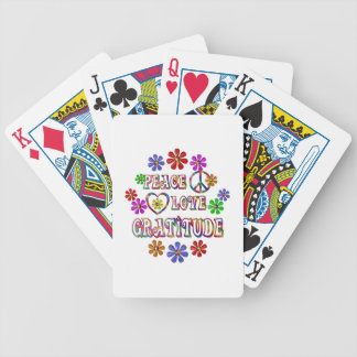 Peace Love Gratitude Bicycle Playing Cards