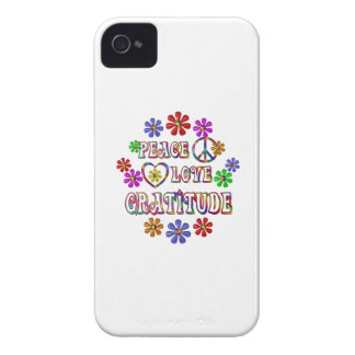Peace Love Gratitude iPhone 4 Case-Mate Case