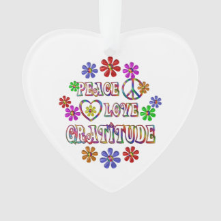 Peace Love Gratitude Ornament