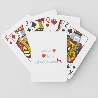 Peace Love Great Danes Poker Deck