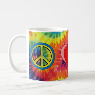 Peace Love Greyhound Coffee Mug