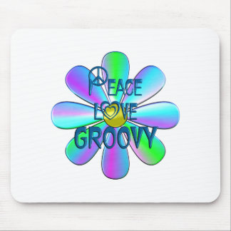 Peace Love Groovy Mouse Pad