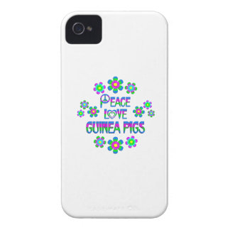 Peace Love Guinea Pigs iPhone 4 Case-Mate Case