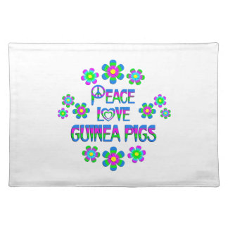 Peace Love Guinea Pigs Placemat