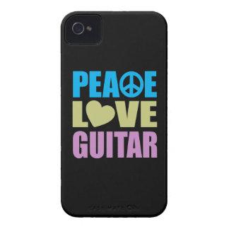 Peace Love Guitar iPhone 4 Case