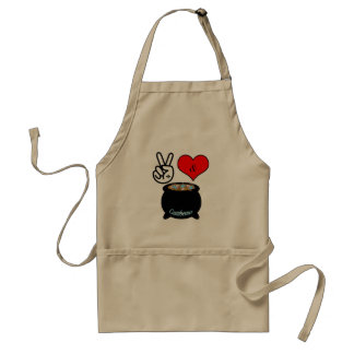 Peace, Love, & Gumbo Apron