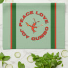 Peace Love Gumbo Crawfish Kitchen Towel