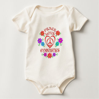Peace Love Gymnastics Baby Bodysuit