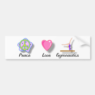 Peace Love Gymnastics Bumper Sticker