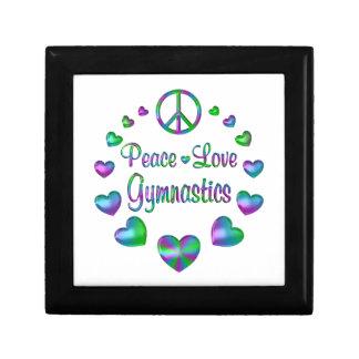 Peace Love Gymnastics Keepsake Boxes