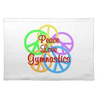 Peace Love Gymnastics Placemat